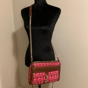 Rebecca Minkoff Pink and Brown Leather Crossbody